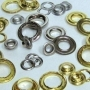 #0 BRASS RR GROMMET W/SPUR WASHERS NICKEL PLATED